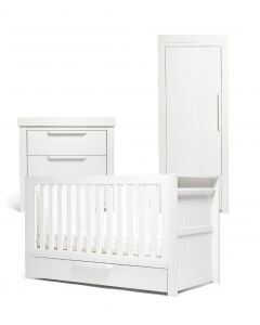 Mamas & Papas Franklin 3 Piece Single Wardrobe Range - White Wash