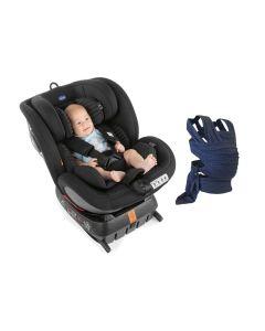 Chicco Seat 4 Fix Air Car Seat - Black Air (inc Free Carrier)