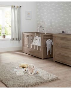Mamas & Papas Franklin 2 Piece Cot Bed & Dresser Set - Grey Wash