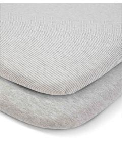 Mamas & Papas Lua Bedside Crib Sheets (2 Pack) - WTTW Grey Elephant