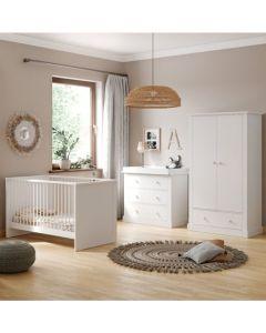 Little Acorns Sophia 3 Piece Nursery Room Set - White