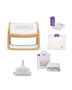 SnuzPod4 Bedside Crib Bundle - Natural