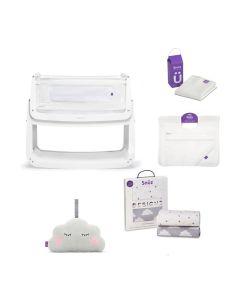 SnuzPod4 Bedside Crib Bundle - White