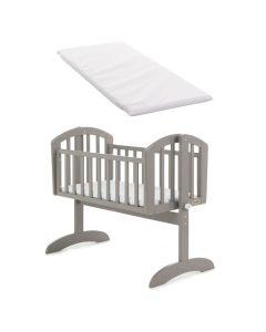 Obaby Sophie Swinging Crib & Mattress - Taupe Grey