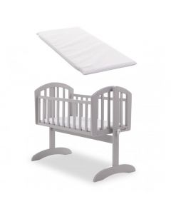Obaby Sophie Swinging Crib & Mattress - Warm Grey