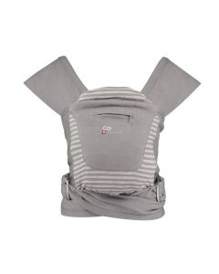Close Caboo +Organic Baby Carrier Steel Marl Stripe