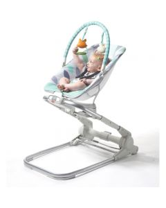 Tiny Love Close to Me Bouncer - Grey/Turquoise