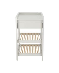 Troll Lukas Changing Table - Soft Grey/Natural