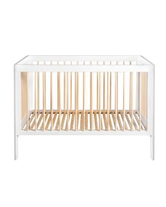 Troll Lukas Cot Bed - White/Natural