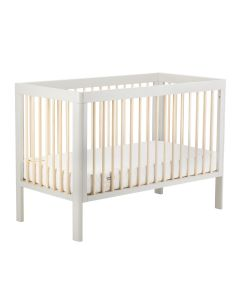 Troll Lukas Cot Bed - Soft Grey/Natural