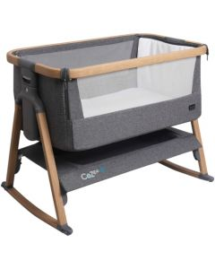 Tutti Bambini CoZee Air Bedside Crib Oak/Charcoal