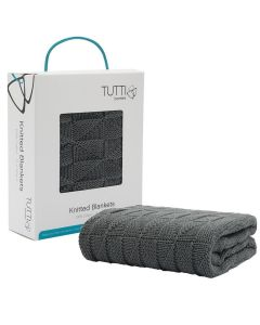 Tutti Bambini Cozee Knitted Blanket - Charcoal