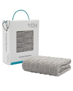 Tutti Bambini Cozee Knitted Blanket - Putty