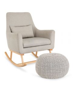 Tutti Bambini Oscar Rocking Chair and Pouffe Set - Pebble