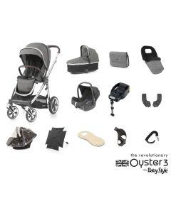 BabyStyle Oyster 3 Ultimate 12 Piece Cabriofix Bundle - Mirror/Mercury