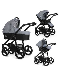 Venicci Soft 3 in 1 Travel System - Med Grey