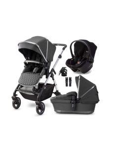Silver Cross Wayfarer Pram & Simplicity Plus Car Seat - Clay